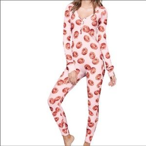 Pink Victoria Secret Wake Up For What Donut Onesie